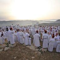 ori orhof passover 2018 raising torah scrolls